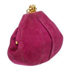 Chanel Vintage Purple Suede Frame Bag