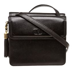 Valentino Garavani Black Leather Vintage Crossbody Bag