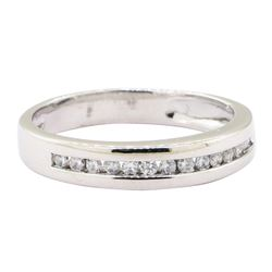 0.25 ctw Diamond Straight Line Band - 14KT White Gold