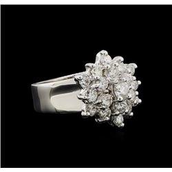 14KT White Gold 1.55 ctw Diamond Ring
