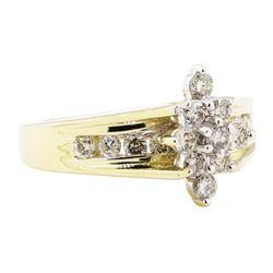 0.85 ctw Diamond Ring - 14KT Yellow Gold