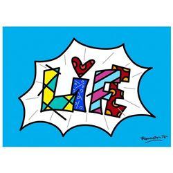 Life Blue Mini Word by Britto, Romero