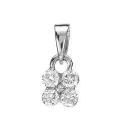14k White Gold  0.26CTW Diamond Pendant