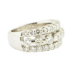 1.90 ctw Diamond Anniversary Ring - 14KT White Gold