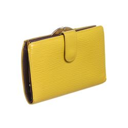Louis Vuitton Yellow Epi Leather French Purse Wallet