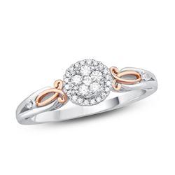 14K White Gold 0.20CTW Diamond Ring, (I1-I2/H-I)