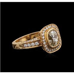18KT Rose Gold 1.83 ctw Diamond Ring