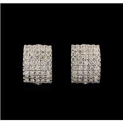 14KT White Gold 2.34 ctw Diamond Earrings