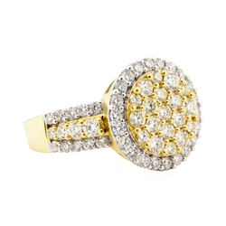 2.26 ctw Diamond Ring - 18KT Yellow With Rhodium Plating Gold