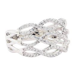 0.70 ctw Diamond Ring - 18KT White Gold