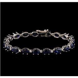 14KT White Gold 16.95 ctw Sapphire and Diamond Bracelet