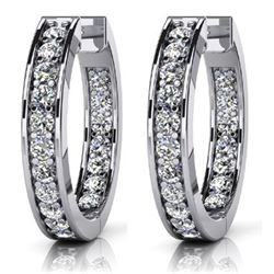 14k White Gold 0.75CTW Diamond Earrings, (VS/F-G)
