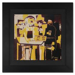 "Ringo Daniel Funes - (Protege of Andy Warhol's Apprentice - Steve Kaufman), ""Three Musicians"" Framed"