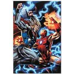 "Marvel Comics ""Iron Man/Thor #3"" Numbered Limited Edition Giclee on Canvas by Scot Eaton with COA."
