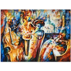 "Leonid Afremov (1955-2019) ""Bottle Jazz III"" Limited Edition Giclee on Canvas, Numbered and Signed."