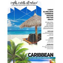 CARIBBEAN VACATION PACKAGE | 2 Adults, All-inclusive, 5 Nights