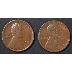 1912 XF & 12-D VF/XF LINCOLN CENTS