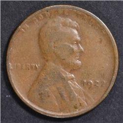 1922 WEAK D LINCOLN CENT GOOD