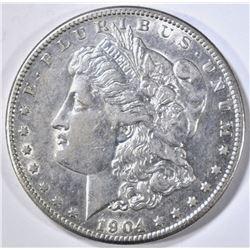 1904-S MORGAN DOLLAR, AU