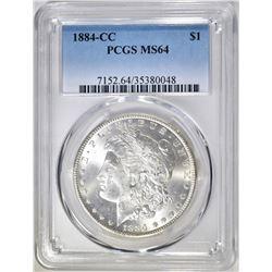 1884-CC MORGAN DOLLAR PCGS MS-64