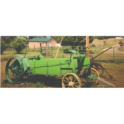 1939 John Deere horse drawn manure spreader, all new fir wood & paint, iron wheels