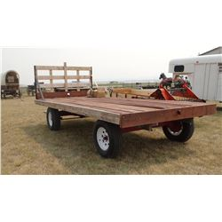 Pioneer hay wagon, 6-ton running gear, hyd. brakes, w/ bolster springs, tongue, 16', like new!