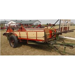 Case manure spreader, 2 wheel, ground drive, new wood throughout