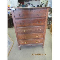 """Wooden Dresser 46""""H 32' W 18"""" D Vintage"""