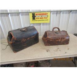2 Doctors Leather Bags - Vintage