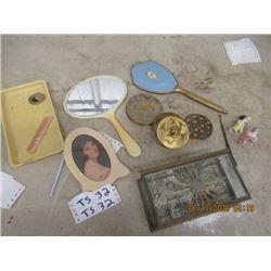 Estate Jewllery, Jewellery , Tray Mirror, Powder Case, Plus More! - Vintage
