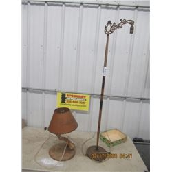 Bridge Lamp & Home Crafted Lamp - Vintage