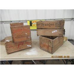 3 Fruit Crates, & 1 Pop Crate