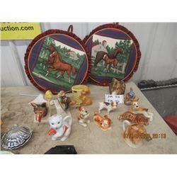 Ornaments, Book Ends, Vase, Cat Teapot, Dog Creamer - Vintage
