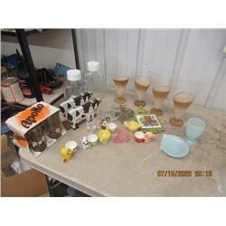 Egg Cup Holder, Glasses, Parfait Cups, Juice Jugs, Trivits - Vintage