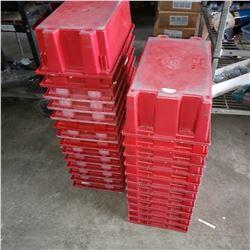 25 RED PARTS BINS