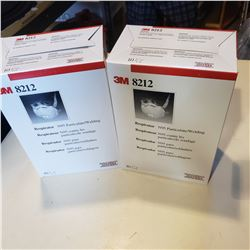 2 BOXES 3M PARTICULATE WELDING RESPIRATOR N95 - NOT FOR MEDICAL USE
