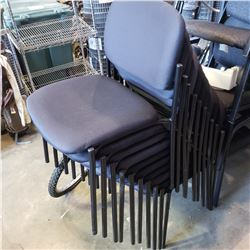 10 STACKING RECEPTION CHAIRS