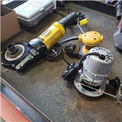 REMS AMIGO 2 COMPACT ELECTRIC PIPE THREADER - NO DIES, PALM SANDER AND ROUTER