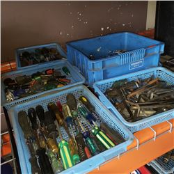 LOT OF SCREWDRIVERS, ALLEN KEYS, AND WRENCHES
