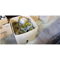 BOX OF PVC HFREEZER CURTAIN HANGING PANELS