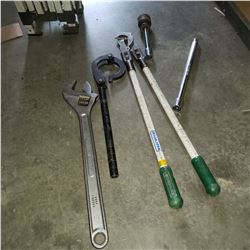 GREENLEE CABLE CUTTER, 24 INCH CRESCENT WRNECH, LEE KERR TUBULAR WRENCH