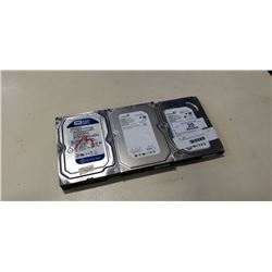 2  500GB HARDDRIVES AND 250GB HARDDRIVE