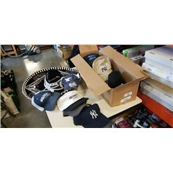 BOX OF HATS AND SOMBRERO