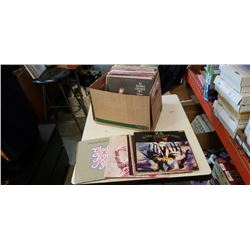 BOX OF RECORDS INCLUDING KC AND THE SUNSHINE BAND
