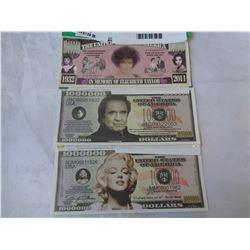 3 US MILLION DOLLAR NOTES