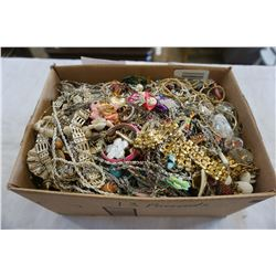 BOX OF JEWELLERY - APPROX 13 POUNDS