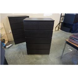 IKEA ESPRESSO 6 DRAWER CHEST OF DRAWERS