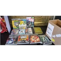 PS3, PSP, GAMES, AND MINECRAFT BOOK