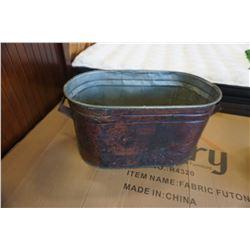 VINTAGE COPPER WASH TUB