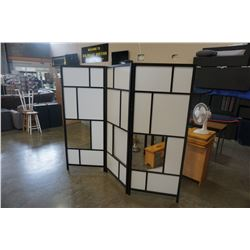 WOOD AND PVC ROOM DIVIDER